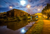 Moonlight along the canal, Middleport (Raven Photography by Jenna Goodwin) Tags: blue light moon water yellow night clouds dark canal still long exposure trails trent hour stokeontrent moonlight staffordshire stoke sot middleport burslem sturation portteries