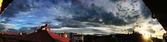 el cielo sobre mi (Explore 2013-10-01) (ines valor) Tags: atardecer ventana cielo nubes tejados nwn panormica creativemindsphotography