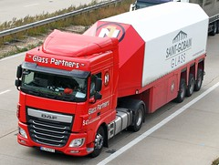 DAF BL 905F0 - Glass Partners (gylesnikki) Tags: new red truck kent 106 artic 116 daf m20 2013 glasspartners