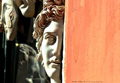 the neighborhood of angels...Athens (dimitra_milaiou) Tags: athens city greece plaka europe face light sun colour history beauty art sculpture shop centre love people pure color shape style greek hellas design nikon d90 neighborhood angels life architecture living athina shadows milaiou dimitra hope thoughts street eyes lips loneliness copy ancient window waiting hide shopping portrait half