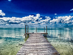 Wodden pier (Iztok Alf Kurnik) Tags: travel summer wallpaper panorama art tourism beach nature clouds canon geotagged mexico pier nationalpark perfect couple holidays artist day village cloudy dream yucatan bluesky tourist panoramic yucatn siankaanbiospherereserve caribbean summertime perfectmoment travelagency qr heavenonearth quintanaroo artisticphotography caribbeansea desktopphoto bluesea travelguide greensea artphotography greatweather puntaallen amazingclouds amazingnature woodenpier perfectplace travelingphotography imagion cloudsonthesky iztokkurnikphotographystudio showinmyeyes javierrojogmez puntaallenvillage