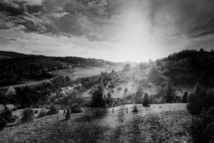 Mountain Morning (Janko Jerinic) Tags: bw white black monochrome analog documentary