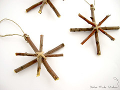 Wooden star ornaments tutorial (FishesMakeWishes) Tags: diy crafts christmasdecoration tutorial christmasornaments getcrafty woodenstars woodnornaments