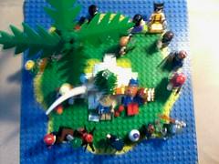 CHRISTMAS /NOEL chez marvel (jeanbrick) Tags: christmas island lego spiderman super noel heroes marvel stark iles