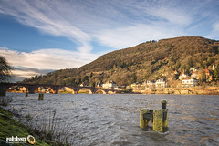 Neckar in December 2013 (Andy Brandl (PhotonMix.com)) Tags: sky clouds river germany deutschland nikon hill bridges heidelberg villas neckar d800 badenwrttemberg neuenheim altebrckeheidelberg photonmix