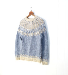 gray and blue wool Nordic sweater (Small Earth Vintage) Tags: blue wool vintage sweater clothing women gray nordic smallearthvintage
