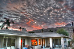 Fire In The Sky (Spebak) Tags: sunset mountains palms evening desert palmsprings valley coachellavalley coachella hdr desertclouds theendoftheday spebak