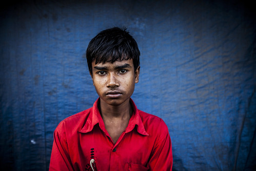 Portrait shot of a man in Bangladesh. Photo by Felix Clay/Duckrabbit.