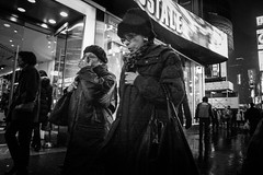 Stay the Course (Instant Vantage) Tags: street leica nyc newyorkcity blackandwhite white newyork black square photography manhattan candid grain tourist timessquare times dlux 42nd leicadlux4 dlux4 luxproject