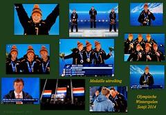 Medaille uitreiking. (ditmaliepaard) Tags: 2014 olympischespelen svenkramer janblokhuijsen sotsji jorritbergsma medailleuitreiking koningwillemalexander