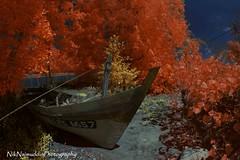 Stranded (Nik Najmuddin Nik Ariff) Tags: autumn river landscapes boat fisherman infrared stranded bot kelantan tokbali autumninfrared niknajmuddin