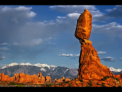 Life is a Balancing Act  Balanced Rock, Arches National Park, Utah (Sam Antonio Photography) Tags: park winter sunset sky cloud holiday snow mountains tourism nature rock horizontal clouds landscape outdoors photography utah nationalpark sandstone rocks day desert unique canon20d arches nopeople erosion northamerica redrocks moab environment hoodoo thunderstorm copyspace geology archesnationalpark discovery fragile naturalwonders balanced touristattraction scenics pinnacle familyvacation tranquilscene balancedrock snowcappedmountains lasalmountains naturalformation americansouthwest travelphotography edwardabbey landscapephotography naturalenvironment traveldestinations colorimage moabutah mountainpeak naturallandmark beautyinnature nationallandmark outdoorphotography internationallandmark aridclimate desertsolitaire nationalparkphotography utahphotography balancedrockarchesnationalpark weirdformations samantonio samantoniophotography vision:ocean=0504 vision:outdoor=0936 vision:sky=0981 vision:clouds=0903 achievingbalance photographingarche