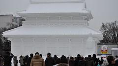Baekje Royal Palace of Korea snow sculpture, Sapporo Snow Festival, Odori Park (David McKelvey) Tags: winter sculpture snow festival japan sapporo nikon hokkaido korea february royalpalace 2010 61st odoripark baekje d5000