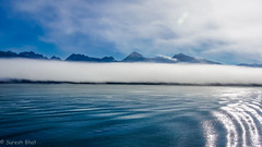 Early morning Alaska Fog (sureshbhat) Tags: ocean cruise blue sky seascape mountains fog alaska clouds sunrise cloudy sony foggy icy oceanview shimmer scenicsnotjustlandscapes sonyphotographing sonyphotography sonyslta55 sonyslt