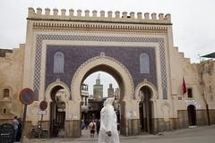 Fes, the famous blue gate: Bab Boujloud (dirk huijssoon) Tags: africa desert northafrica islam morocco marokko nkc campertour camperreis nkcrondrit rondritmarokko20144 nedrlandsekampeerautoclub camperreismarokko nkccampertout nkcreis