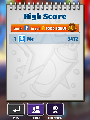 Subway Surfers Score Board: screenshots, UI