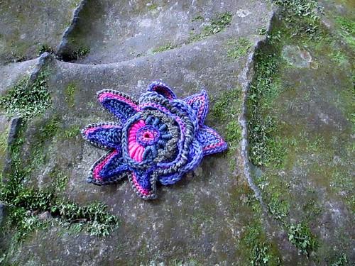 Prudence Mapstone - freeform crochet brooch
