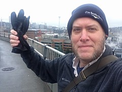 "Day 1084 - Day 354: ""The bluest skies you've ever seen..."" (knoopie) Tags: seattle selfportrait me december doug spaceneedle year3 picturemail iphone 2014 knoop day354 365days knoopie myseattle day1084 365more thebluestskiesyouveeverseen 365daysyear3"