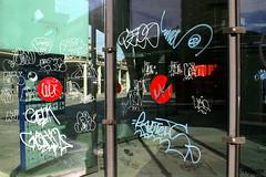 Contaminazioni2 (photoalfiero) Tags: streetart colors graffiti mirror tag streetphotography colori riflessi trasparenze contaminazioni lestradeparlanoimuriurlano