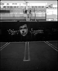 (loranger) Tags: bw streetart film mediumformat graffiti iceland rangefinder nb reykjavik 6x7 islande moyenformat 12à