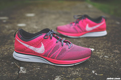 nike flyknit trainer+ (thatgirlwiththekicks) Tags: pink grey shoes sneakers trainers nike runners plus kicks trainer flyknit flyknits