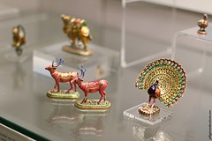 British Museum: Enamelled animal figurines (Jeff G Photo - 2m+ views! - jeffgphoto@outlook.com) Tags: museum reindeer peacock figurines figurine britishmuseum jaipur enamel mughal