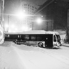 For the non-believers in #MercuryInRetrograde , this was supposed to be my bus home.   (9mm Eds Photos) Tags: road street winter snow chicago bus public square cta wind uptown transportation squareformat february inkwell blizzard drift 2015 iphoneography instagramapp uploaded:by=instagram