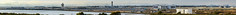 oakland international airport panorama (pbo31) Tags: california winter panorama color oakland airport oak nikon view aviation over large panoramic bayarea eastbay february stitched alamedacounty sanleandro roadway d800 2015 oaklandinternationalairport