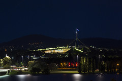 Canberra by night (vk2gwk - Henk T) Tags: building night long exposure shot australia parliament canberra act