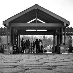 Inniswood Metro Park (andiwolfe) Tags: columbus ohio blackandwhite film streetphotography 120film columbusohio yashicamat124g blackandwhitefilm inniswoodmetropark twinlensreflexcamera