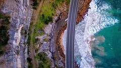Sea Cliff Bridge (Jay Daley) Tags: sunrise coast australia aerial nsw wollongong drone seacliffbridge dji inspire1pro djix5