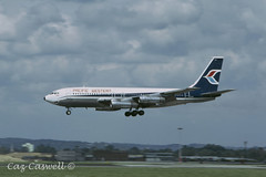 CF-PWV  707-138B  Pacific Western (caz.caswell) Tags: westsussex boeing 707 airliner gatwick pacificwestern lgw gatwickairport pwa turbojet londongatwick londongatwickairport jt3 cfpwv 4xprattwhitneyjt3