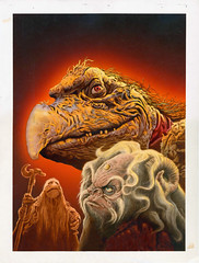 Famous Monsters #191 (1983), original cover art by Bill Selby (Tom Simpson) Tags: art illustration vintage painting 1982 muppets cover 1980s famousmonsters thedarkcrystal billselby