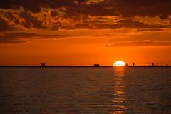 Sunset Sky (Infomastern) Tags: bridge sunset sea sky cloud himmel bro hav solnedgng moln sibbarp resundsbron