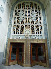 Marine Building entrance (misiekmintus) Tags: canada architecture vancouver downtown bc britishcolumbia marinebuilding