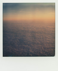 Flying from Sweden 1 (SX-70) (mmartinsson) Tags: travel sunset sky film airplane polaroid sx70 flying sweden horizon scan 2016 instantfilm analoguephotography polaroidsx70landcamera epsonperfectionv700 impossibleproject