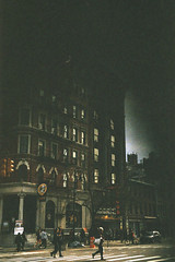NY Spooky (e.m.alder) Tags: sky newyork building film analog 35mm dark nikon kodak outdoor eerie creepy spooky 135 nikkor nikonf portra apocalyptic mishap portra800 c41 ftn photomic nikkors50mmf14 homedevelopment 50mmf14s canoscan9000f