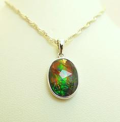 NEW ARRIVAL (The Ammolite) Tags: fossil   ammonite ammolite minerals mineral rock gemstone jewelry jewellery pendant