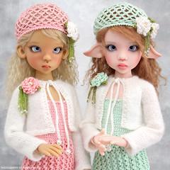 Layla and Demelza (Maram Banu) Tags: pink green outfit doll soft mint layla sunkissed msd laryssa bjf kayewiggs kazekids fairystyle marambanu