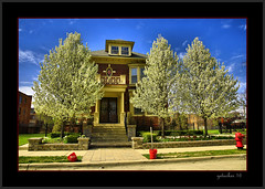 Spring in Detroit (the Gallopping Geezer 3.5 million + views....) Tags: old house building home mi canon michigan detroit sigma structure historic neighborhood hdr geezer brushpark dwelling 24105 2016 5d3