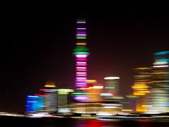Pudong-Shanghai (HerringCoveMike) Tags: china tower buildings river lights shanghai pudong pearltower