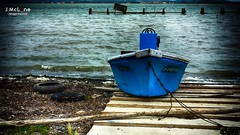 It's not time yet. (Jean McLane) Tags: blue france water boats waterfront etang languedocroussillon