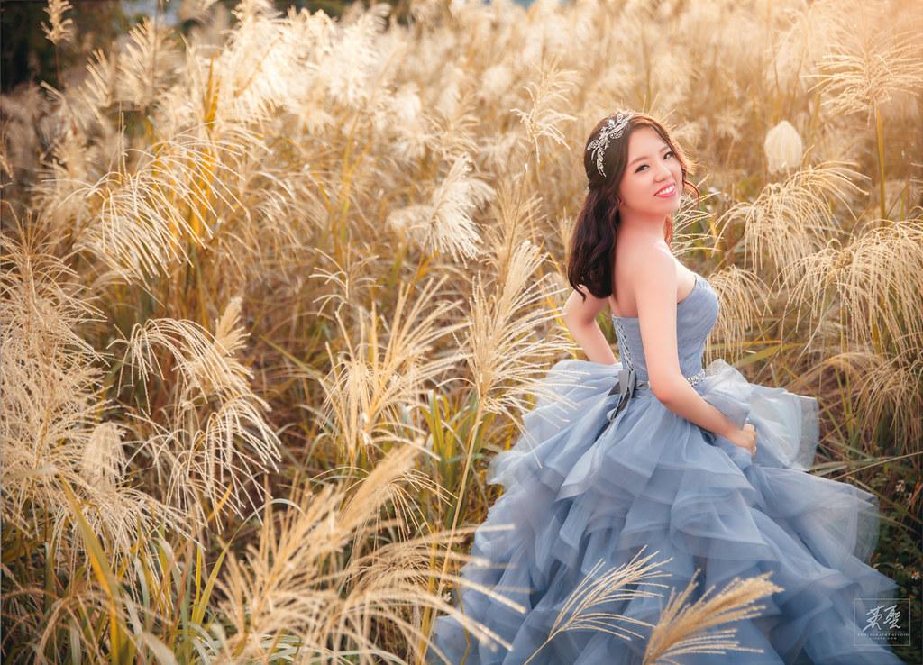 {婚攝英聖 |自主婚紗 }~婉婷 祐丞~花卉實驗中心 沙崙海灘 造型:Yuki Yen 白色夢幻