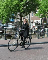 Amsterdam Centrum Keizersgracht gsm (GeRiviera) Tags: netherlands girl dutch bike iamsterdam candid nederland centrum keizersgracht fiets noordholland niederlande