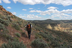 Going cross country on Juniper Ridge (rozoneill) Tags: lake oregon river carlton butte desert hiking painted canyon vale trail backpacking saddle blm uplands owyhee honeycombs