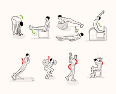 Poses exerccios (Rodrigo Damati) Tags: info ilustrao vetor ilustra infografia vetorial infogrfico