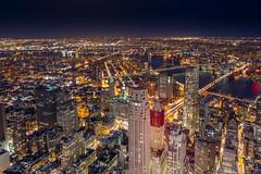 New York skylines From One World Observatory (Hameed S) Tags: nyc newyorkcity longexposure nightphotography travel tourism architecture brooklyn skyscraper canon cityscape manhattan skylines financialdistrict brooklynbridge manhattanbridge lowermanhattan cityatnight freedomtower canonef24105mmf4lisusm manhattannight canoneos5dmarkiii hameeds