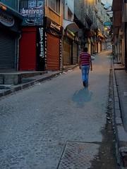 147 / 366 (lufegu) Tags: street city sunset shadow urban men architecture walking cobblestone lifestyles lonley leadinglines lowlightphotography citilife