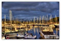 Lumires sur le port (au35) Tags: light port nikon corse bateaux ciel lumiere ajaccio mats d5000