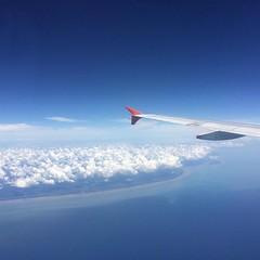 View from the sky... #sky #blue... (dalecourtarts) Tags: travel blue sea sky cloud white travelling beautiful clouds plane sumatra indonesia airplane photography fly flying cool view jetstar clearsky flyinghigh photooftheday sumatera travelphotography uploaded:by=flickstagram instagram:photo=12374358992183831572106153731 instagram:venuename=singaporechangiinternationalairportterminal1 instagram:venue=133187149